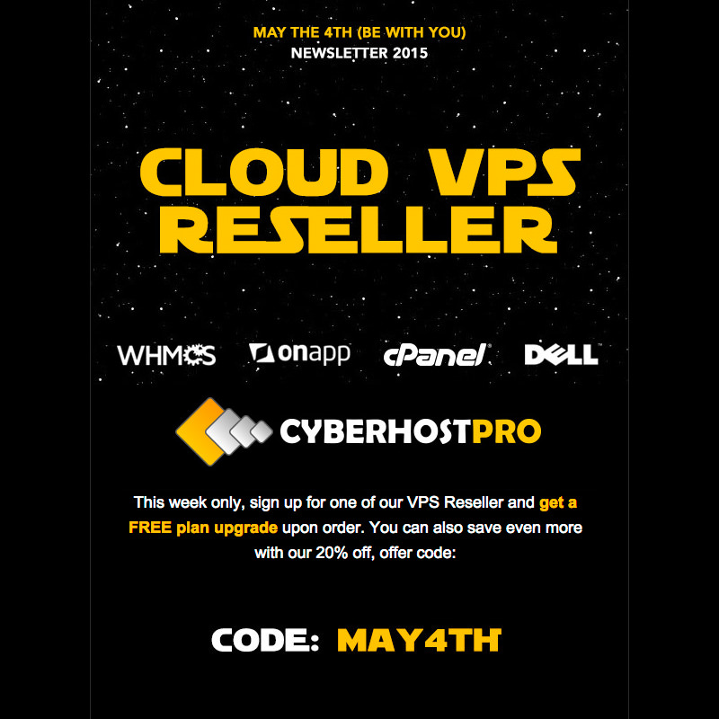 Snap shot of the Star Wars VPS Reseller Mailer