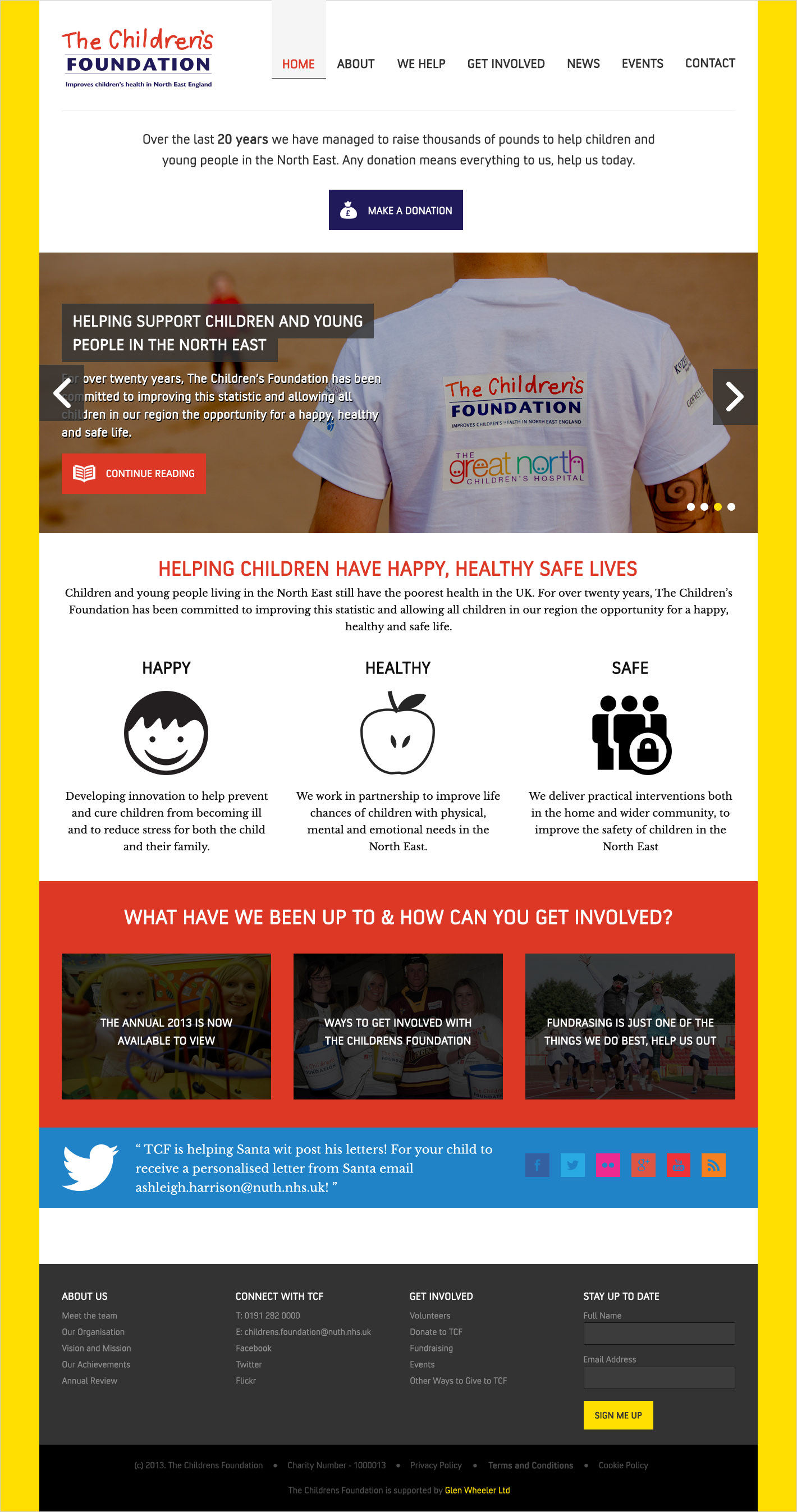 A shot of The Children's Foundation homepage