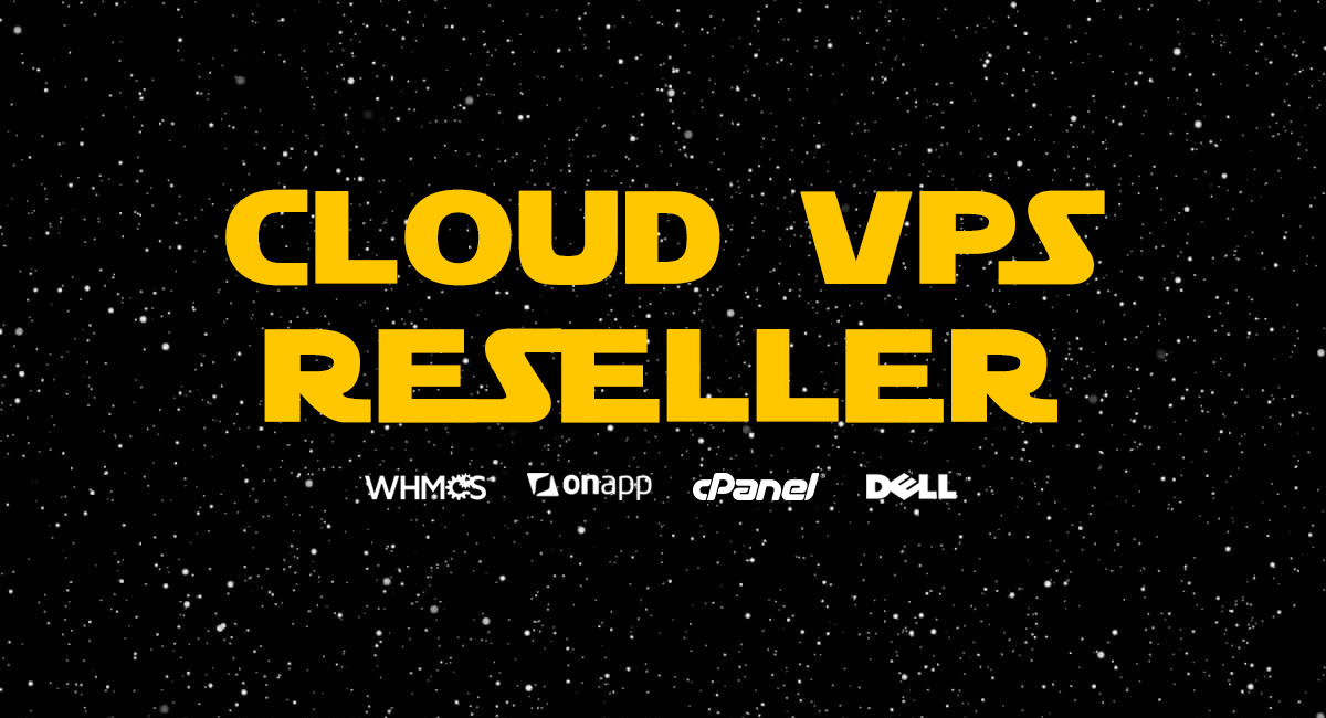 VPS Reseller in Star Wars type font